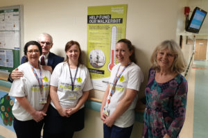 Gerry and Pauline Smith with members of the stroke team