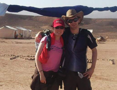 How a desert trek challenge led to love